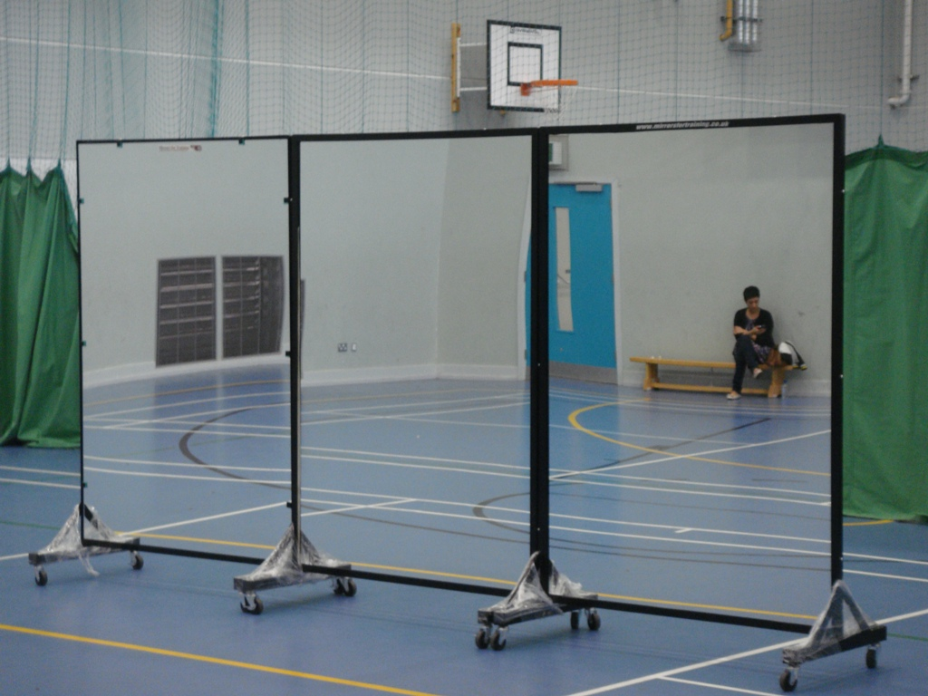 high quality portable mirrors ideal for gyms and dance