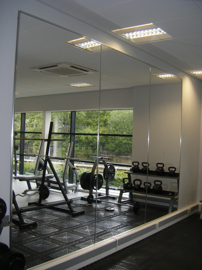 Large gym fitness mirrors high quality shatter proof